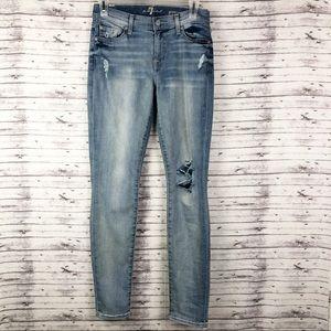7FAMK Gwenevere Distressed Skinny Jeans 26